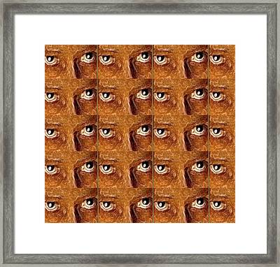 Eyes And Face Expressions Pop Art Framed Print