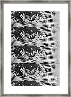 Eyes Cell Phone Case Framed Print