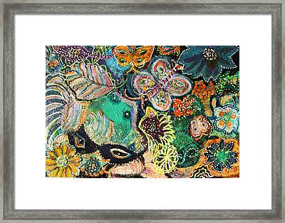 Eyes In Hiding Framed Print
