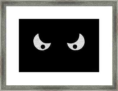Eyes - In The Dark Framed Print by Mike Savad