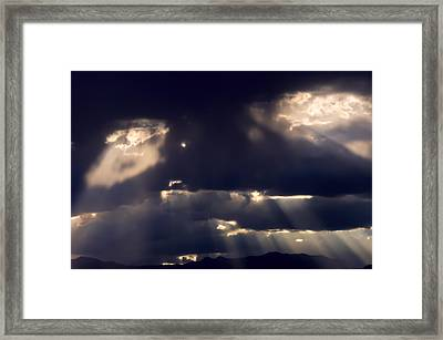 Eyes In The Sky Framed Print