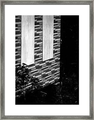 Eyes Nailed Shut Framed Print by Rebecca Sherman