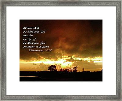 Eyes Of God Framed Print by Robyn Stacey
