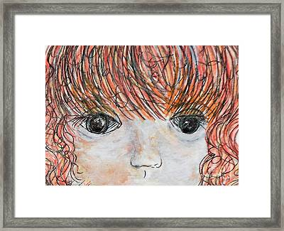 Eyes Of Innocence Framed Print by Eloise Schneider