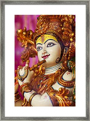 Eyes Of Krishna Framed Print by Tim Gainey