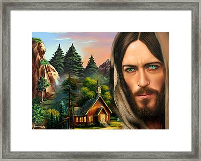 Eyes Of Love And Compassion Framed Print