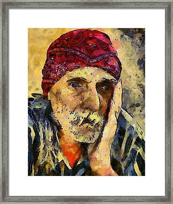 Eyes Of Sadness Framed Print by Georgiana Romanovna