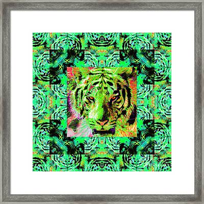 Eyes Of The Bengal Tiger Abstract Window 20130205m180 Framed Print