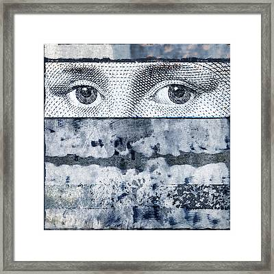Eyes On Blue Framed Print by Carol Leigh