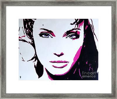 Eyes On Fire Framed Print by Venus