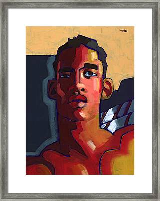Eyes On The Prize Framed Print by Douglas Simonson