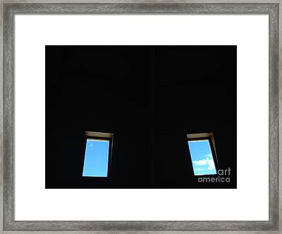 Eyes On The Sky Framed Print by Nora Boghossian