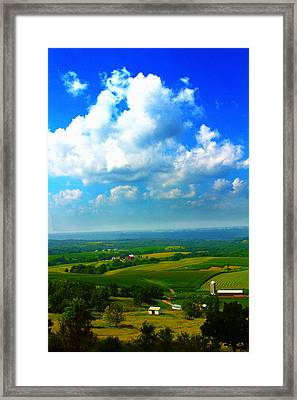 Eyes Over Farmland Framed Print