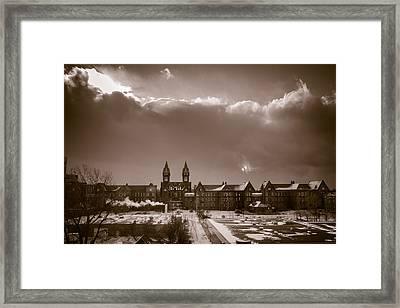 Eyes Over Richardson Center Framed Print
