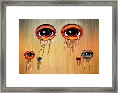 Eyes Framed Print by Steven Michael