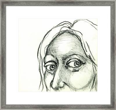 Eyes - The Sketchbook Series Framed Print by Michelle Calkins