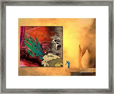 Framed Print featuring the digital art Eyewash by Mojo Mendiola