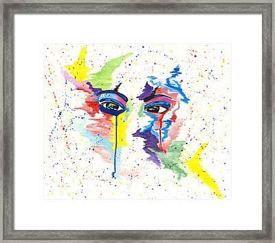 Eyez Framed Print by Rishanna Finney