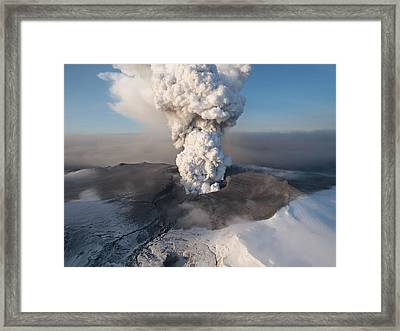 Eyjafjallajokull6 Framed Print by Siguringi Holmgrimsson