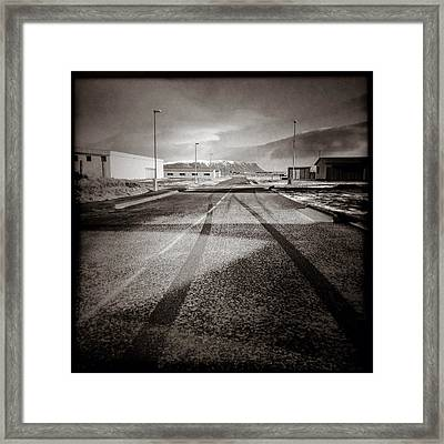 Eyrarbakki Tracks Framed Print by Dave Bowman