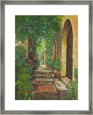 Eze Village Framed Print