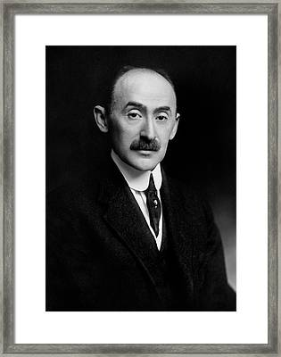Ezekiel Weintraub Framed Print by Williams Haynes Portrait Collection, Chemists� Club Archives/chemical Heritage Foundation