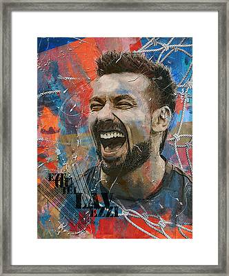 Ezequiel Lavezzi - B Framed Print by Corporate Art Task Force