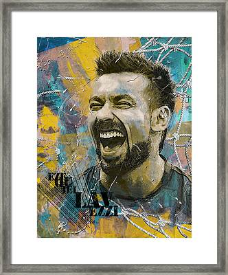 Ezequiel Lavezzi Framed Print by Corporate Art Task Force
