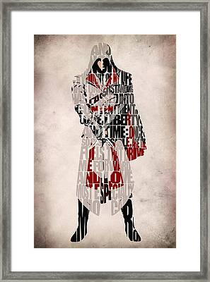 Ezio - Assassin's Creed Brotherhood Framed Print by Ayse Deniz