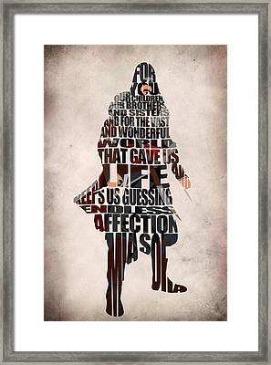 Ezio Auditore Da Firenze Framed Print by Ayse Deniz