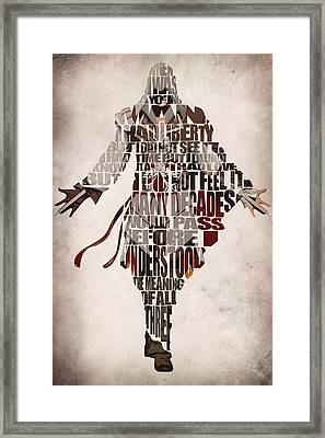 Ezio Auditore Da Firenze From Assassin's Creed 2  Framed Print by Ayse Deniz