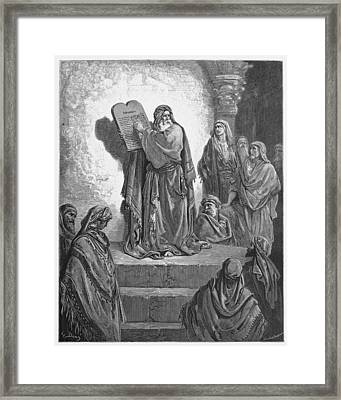 Ezra Reads The Law To The Israelites  Framed Print
