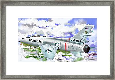 F-100 D Super Sabre Framed Print by Jim Hubbard