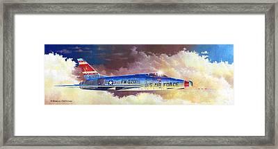 F-100d Super Sabre Framed Print