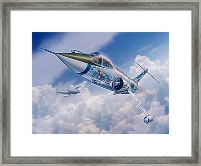 F-104c Starfighter Framed Print by Stu Shepherd