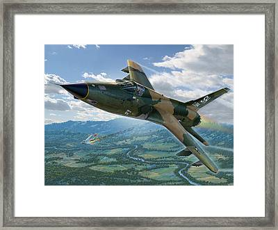 F-105d Thunderchief Mary Kay Framed Print by Stu Shepherd