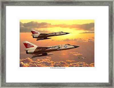 F-106 Delta Dart Intercept Framed Print by Mark Karvon