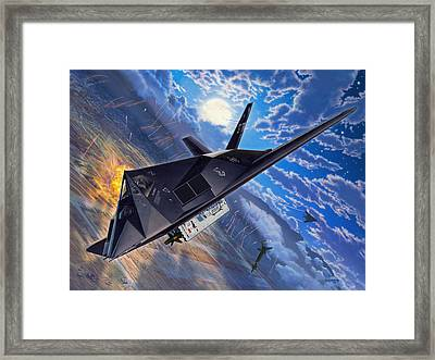F-117 Nighthawk - Team Stealth Framed Print
