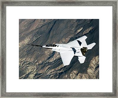 F-15b Quiet Spike Test Plane Framed Print by Nasa