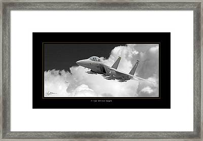 F-15e Strike Eagle Framed Print by Larry McManus