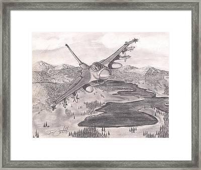 F-16 Over Alaska Framed Print