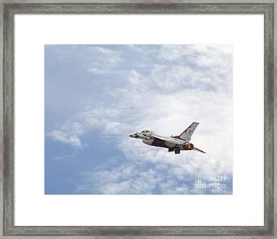 F-16 Thunder Framed Print