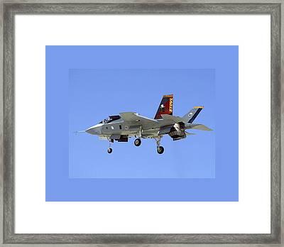 F-35 Short Take Off Vertical Landing Framed Print
