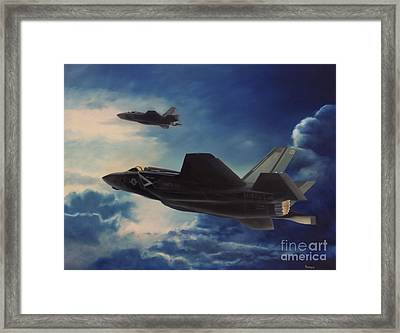 F-35b Lightening II Framed Print