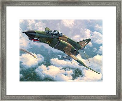 F-4e Mig Killers Framed Print by Stu Shepherd