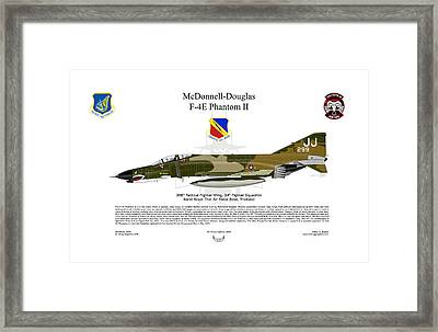 F-4e Phantom II Framed Print by Arthur Eggers