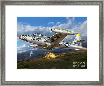 F-84e Thunderstrike Framed Print by Stu Shepherd