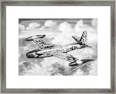 F-84g Thunderbird Framed Print by Douglas Castleman