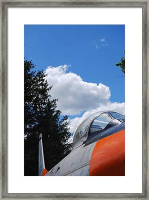 Framed Print featuring the photograph F-860 Saber Jet Interception by Ramona Whiteaker
