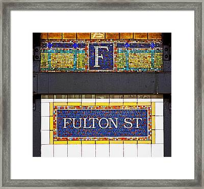 F Is For Fulton Street Framed Print by Rona Black